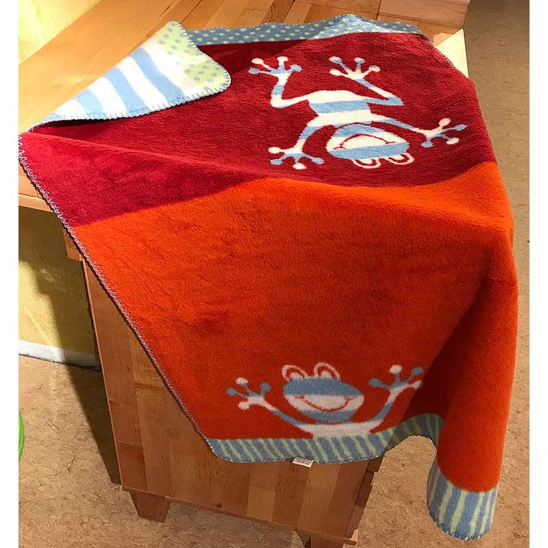 decke frosch baumwolle kba 75x100cm mit h kelrand nicht feu 21 95. Black Bedroom Furniture Sets. Home Design Ideas