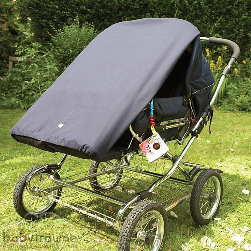 Sonnensegel Kinderwagen Grau-altrosa