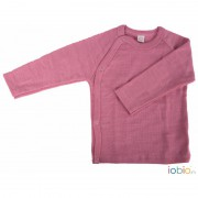 Baby-Wickel-Shirt Himbeere, 100% Wolle (kbT), himbeer-rosa