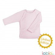 Baby-Wickelshirt rosa Wolle/Seide aus edlem Mix: 70%...