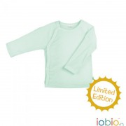 "Baby-Wickelshirt ""salbei Wolle/Seide"" aus edlem..."