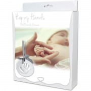 Handabdruckset Happy Hands - Ornament Kit/silberfarbenes...