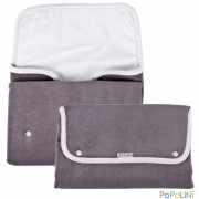 Reise-Wickelmatte graue Popolini-Wickel-Clutch mit...