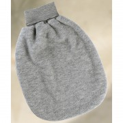 Strampelsack grau, Fleece, 100% Wolle (Schurwoll-Fleece...