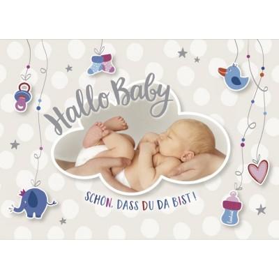 Glückwunschkarte Hallo Baby Schön Dass Du Da Bist A5 Inkl Umschlag