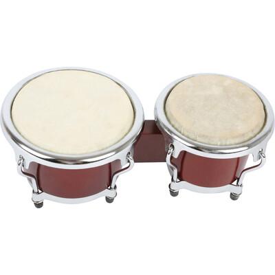 Kinder Trommel Bongos  Motorik Rhythmus Instrument Holzspielzeug