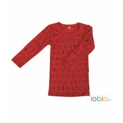 Unterhemd-Shirt, Lama chili red Langarm Wolle (kbT),...