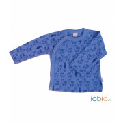 WickelShirt, Lama jeans Langarm Wolle (kbT), leichter...