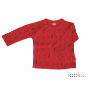 WickelShirt, Lama chili-red rotorange Langarm Wolle...